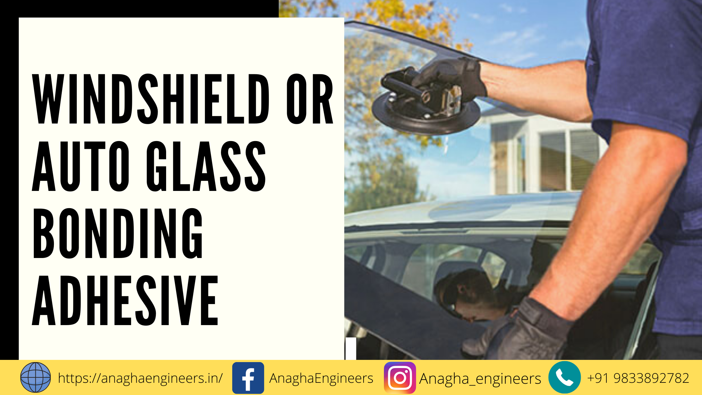 Types of adhesives for windshields, glass to metal